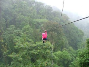 woman ziplining in cape town