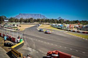 cars racing at killarney race track