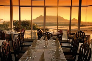 View of Table Mountain from Blowfish Restaurant