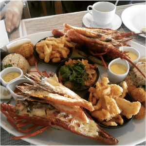 Seafood at Two Oceans Restaurant
