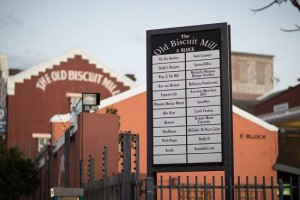 Outside of the Old Biscuit Mill