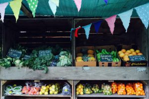 fruit and vegetables at Tokai Forest Market