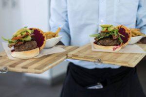 burgers at the vue restaurant